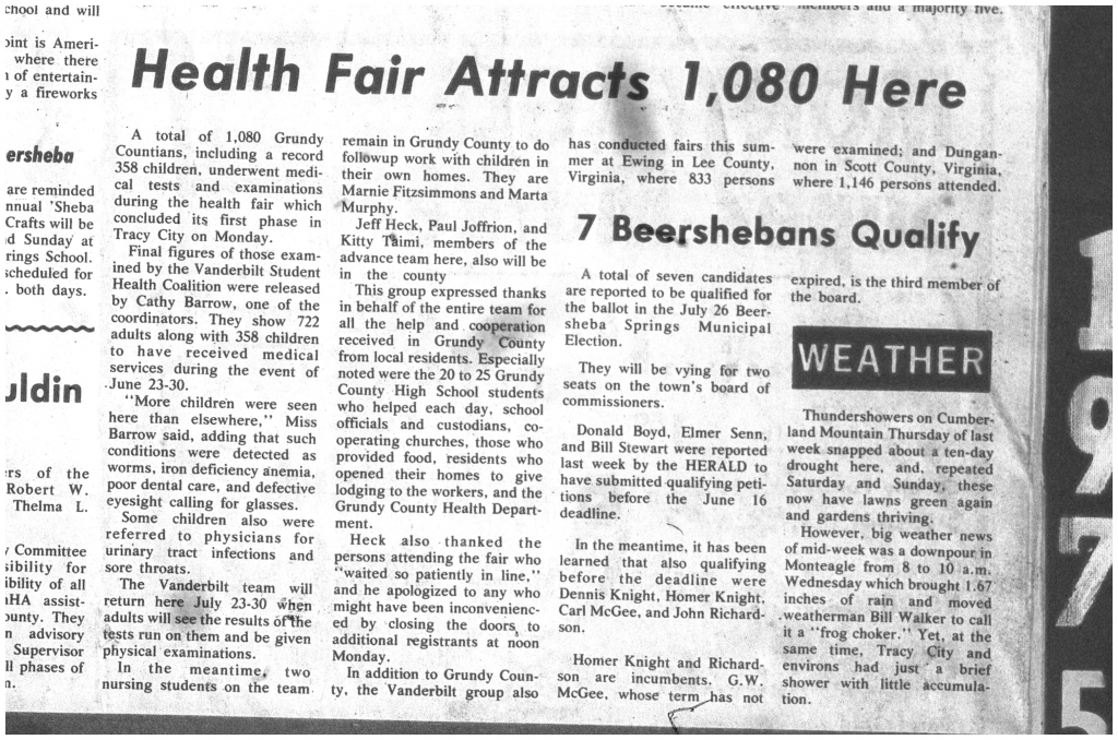 """""""Health Fair Attracts 1,080 Here"""""""